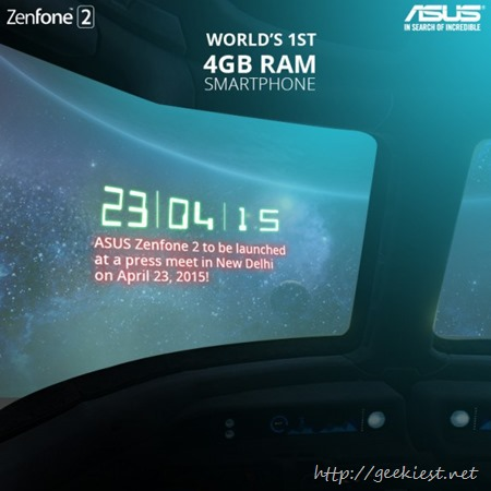 Asus Zenfone 2 launch India April 23