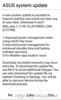 Asus Zenfone receive another update