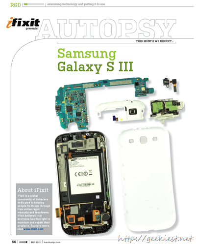 Autopsy - Samsung galaxy S III Review