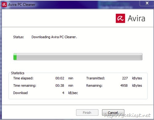 Avira PC Cleaner SCreen