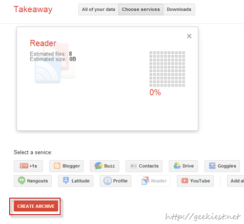 Back Up Google Reader Subscriptions Data - 2