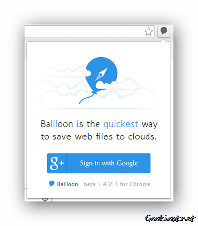 Ballloon for Chrome - First Step
