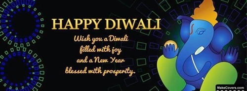 Beautiful Diwali Facebook Cover Photo -04