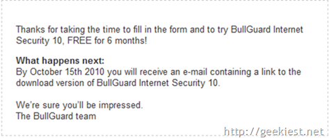 BullGuard Internet Security FREE for six months