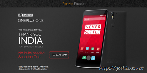 Buy OnePlus One without invitation–February 10, 2015