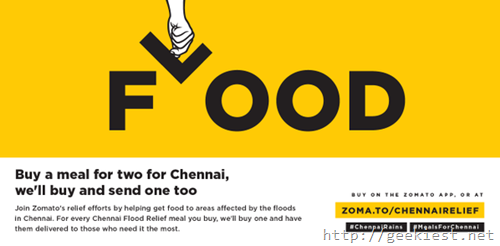 Buy food for Chennai