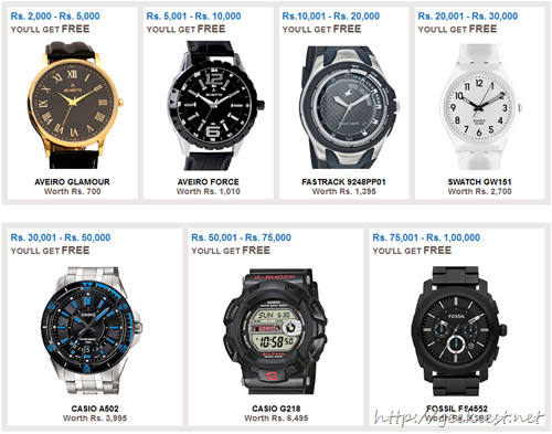 Buy from ebay before 15th July 2013 and get a free watch[9]