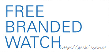 Buy from ebay before 15th July 2013 and get a free watch