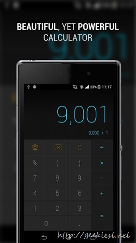 CALCU– Cool calculator App for Android
