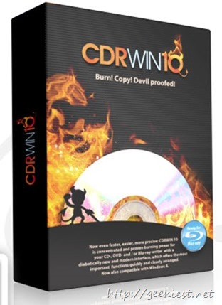 CDRWIN 10 - Copies and burns like the devil