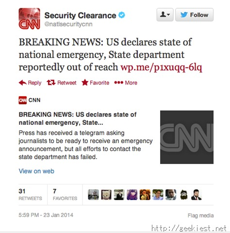 CNN Security Clearance Twitter hacked and defaced by SEA
