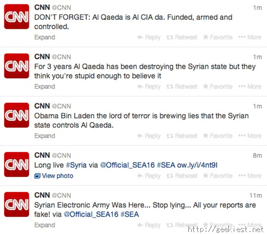 CNN main twitter account hacked by SEA