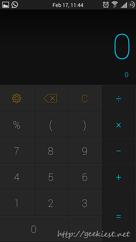 Calcu - Calculator for Android screenshots 2