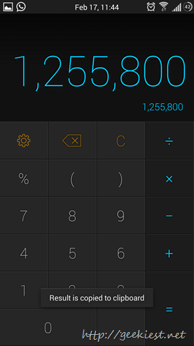 Calcu - Calculator for Android screenshots 4