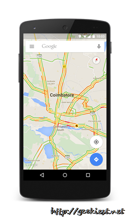 Check traffic conditions–Google Maps India