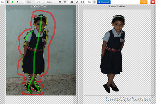 Clipping Magic - Remove unwanted objects or background from an Image easily