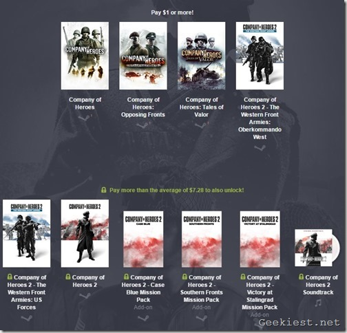 Company of Heroes Humble Bundle