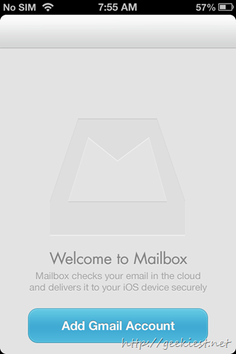 Configure a Gmail account