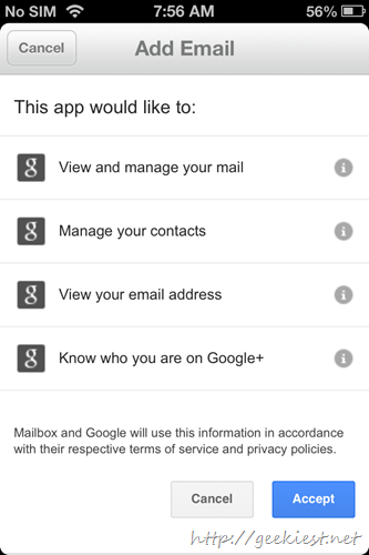 Configure a Gmail account permissions