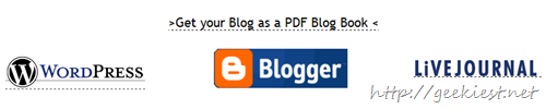 Convert your Blogger, WordPress, LiveJournal blogs to PDF