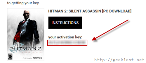 Copy the hitman 2 key