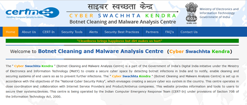 Cyber Swachhta Kendra by Government of India