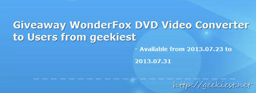 DVD converter promotion page