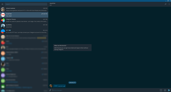 Dark theme Telegram