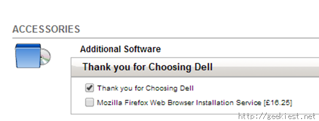 Dell tried Charging 16 Pounds for installing Firefox