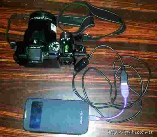 Digital camera to Android phone