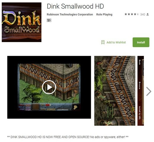 Dink Smallwood HD goes free on Android