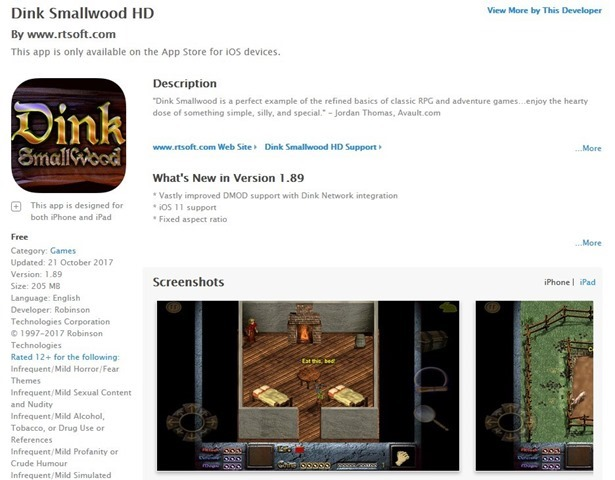 Dink Smallwood HD goes free on iOS