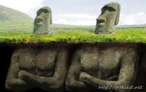 Do you know Easter Island statues have bodies