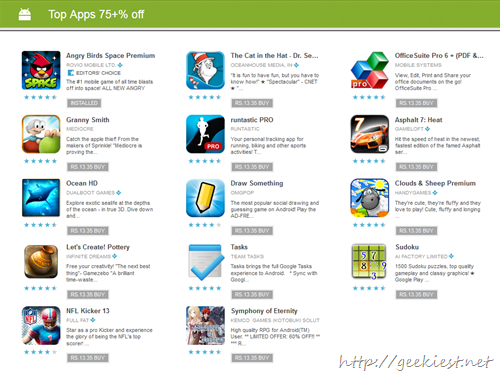Download Android apps for 25 cents