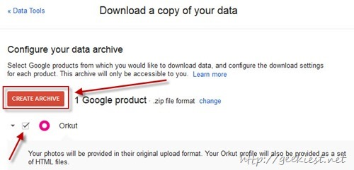 Download Orkut Data
