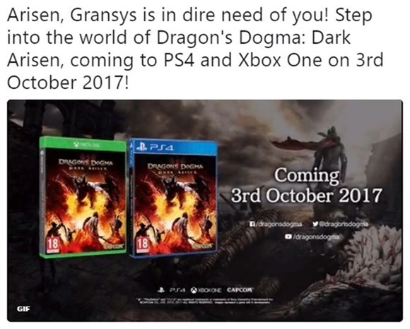 Dragons Dogma for PS4 and Xbox One 2017
