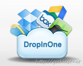 DropInOne - a multiple cloud drive manager