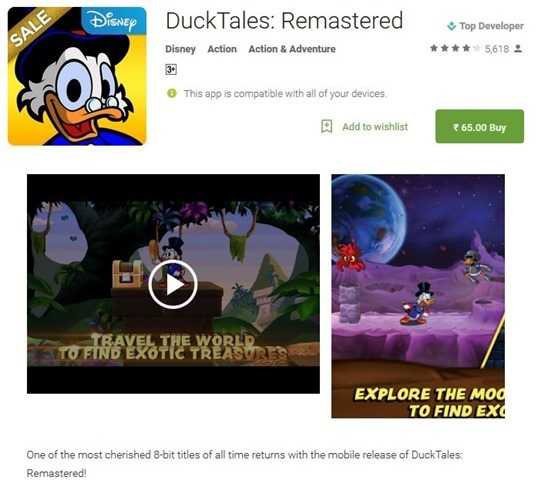 DuckTales Remastered sale