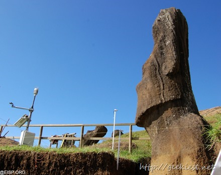 Easter Island statues excavation photos 1