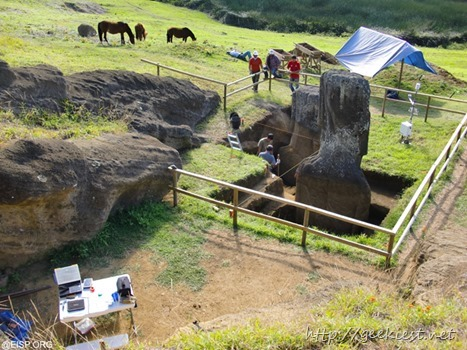 Easter Island statues excavation photos 2