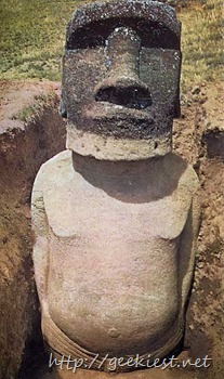 Easter Island statues excavation photos 6