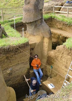 Easter Island statues excavation photos 8