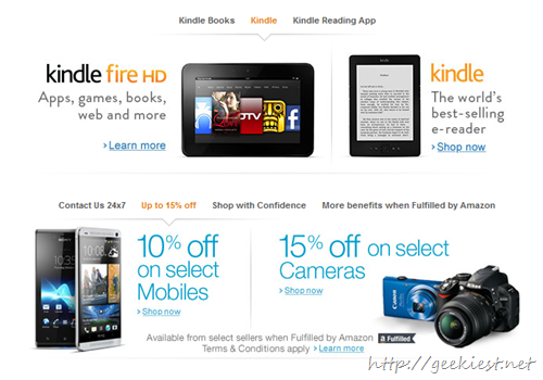 Electronic items available on Amazon India
