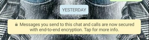 End to end encryption message
