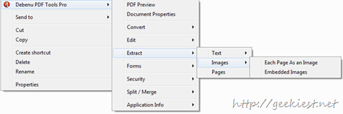 Extract images texts from PDF
