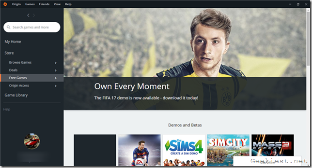 FIFA 17 demo ea origin