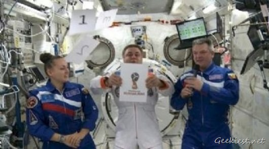 FIFA World Cup 2018 Russia Logo unveiled by Astronauts