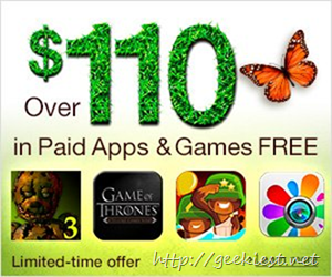 FREE-Paid Android Apps and Games worth USD 110