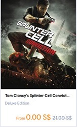 FREE Tom Clancy's Splinter Cell Conviction