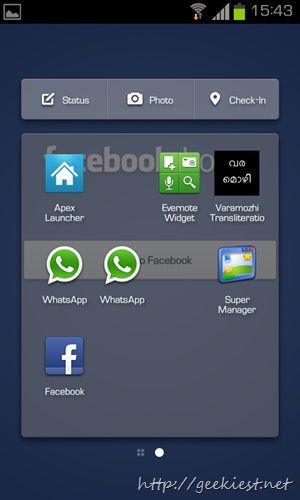 Facebook Home on Galaxy SII